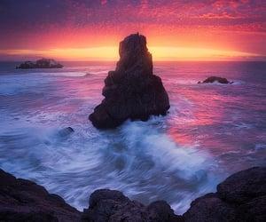 atardecer, rocas, and belleza image