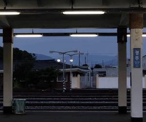 aesthetic, korea, and train station image