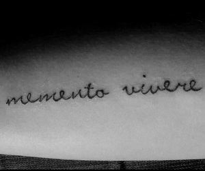 arm, Memento Vivere, and tattoo image