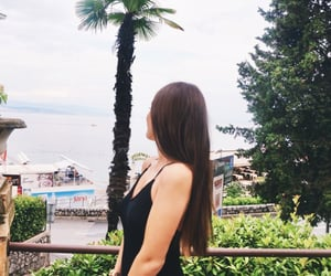 brown hair, long hair, and Croatia image