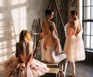 aesthetic, shadow, and ballerinas image