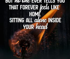 alone, text, and fire image