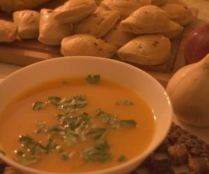 food, pumpkin, and soup image