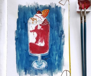 art, icecream, and sweet image