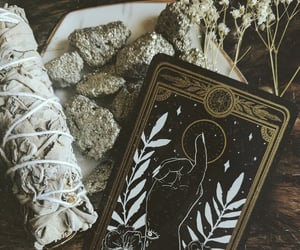 cards, chamomile, and crystal image