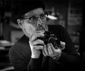 black and white, johnny depp, and photography image