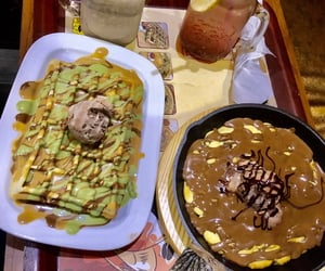 cookie, pistachio, and waffle image