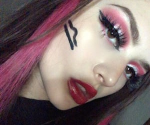 art, makeup, and Libra image