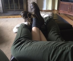 cuddling, legs, and tv image