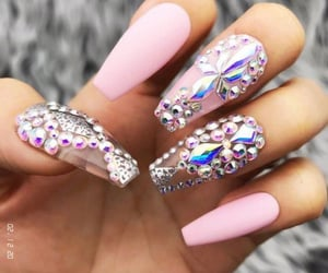 bling, nails, and shape image