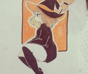 traditional art, cute, and witch image