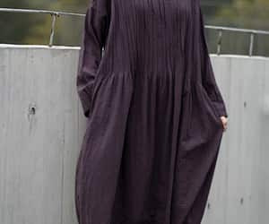 etsy, pleated dress, and long sleeves robes image