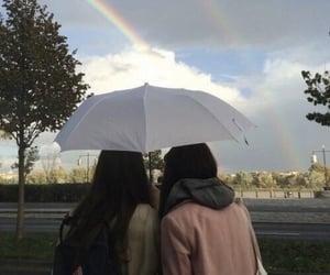 best friends and umbrella image