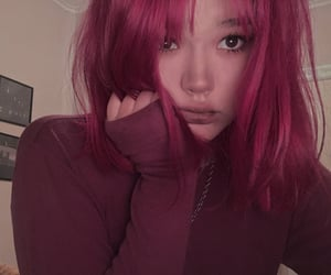 aesthetic, cute girl, and dyed hair image