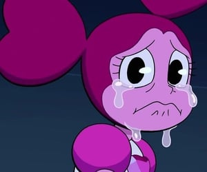 crying, pink, and spinel image