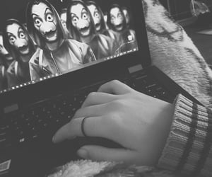 aesthetic, black and white, and girly image