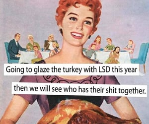 cartoon, funny, and thanksgiving image