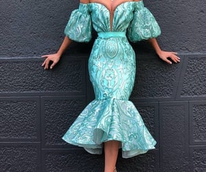 evening gown, style, and mermaid evening dress image