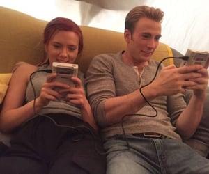 chris evans, Scarlett Johansson, and Marvel image