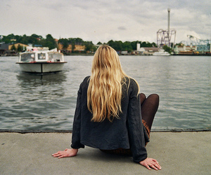 girl, blonde, and photography image