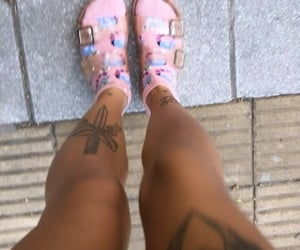 Tattoos, aesthetic, and sandals image