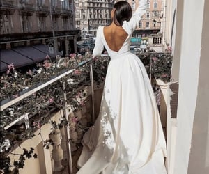 wedding, dress, and beauty image
