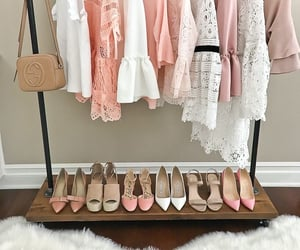 chiffon, fashion, and heels image