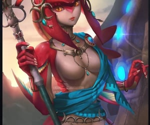 zelda, breath of the wild, and mipha image