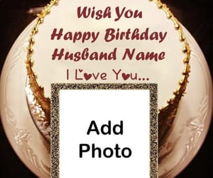 happy birthday cake, name and photo add, and online photo editor image