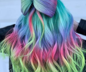 beauty, bow, and colors image