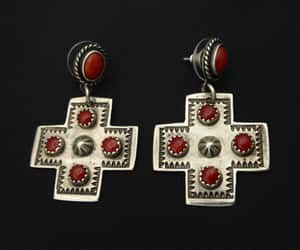 american indian, sterling silver, and silver cross image