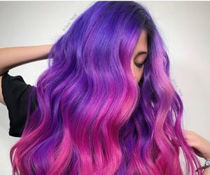 pink and purple hair and guy tang image