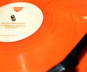 orange, music, and aesthetic image