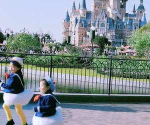 childhood, disneyland, and donald duck image