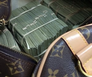 money, Louis Vuitton, and luxury image