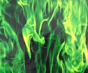 green, aesthetic, and fire image