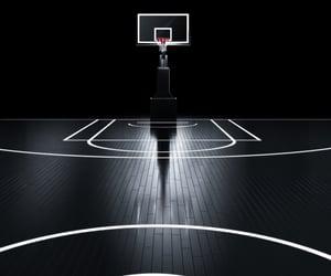 athlete, ball, and basket image