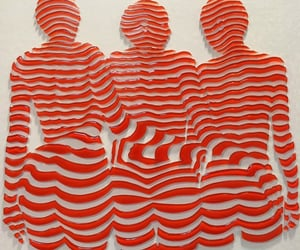art, striped, and stripes image