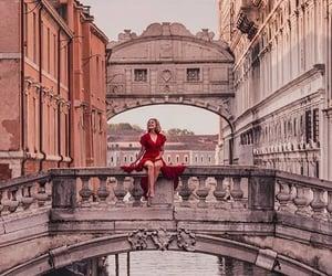 bridge, girl, and travel image