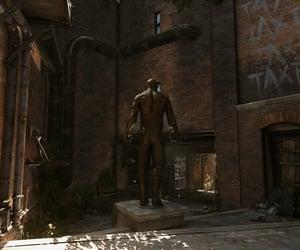 abandoned, bronze, and dystopian image
