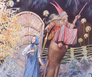 baba yaga, forest, and cat image
