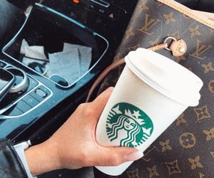 apple, coffee, and Louis Vuitton image