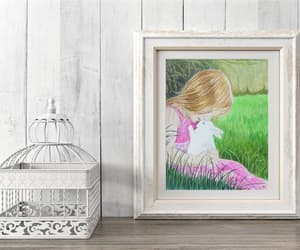 etsy, nursery wall decor, and girl portrait image