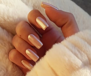 beige, nails, and naildesign image
