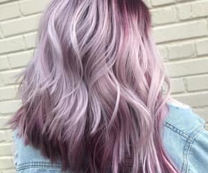 purple hair, lilac hair, and light lilac hair color image