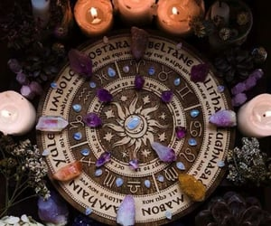 witch, magic, and crystal image