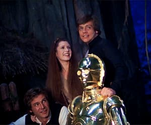 carrie fisher, mark hamill, and gif image