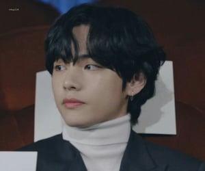 jin, long hair, and tae image
