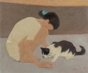 art, artwork, and cat image