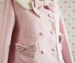 bows, fur collar, and coat image